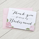 'Thank You For Being My Bridesmaid' Card - weddings