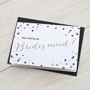 'Will You Be My Bridesmaid' Bridesmaid Proposal Card - wedding, engagement & anniversary cards