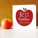 Personalised Best Teacher Apple Card