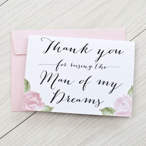 'Thank You For Raising' Wedding Card - wedding cards & wrap
