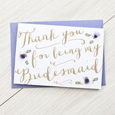 Bridesmaid Card - cards
