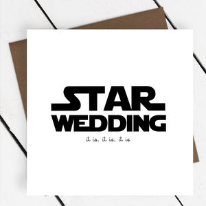 'Star Wedding' Star Wars Greeting Card - wedding, engagement & anniversary cards