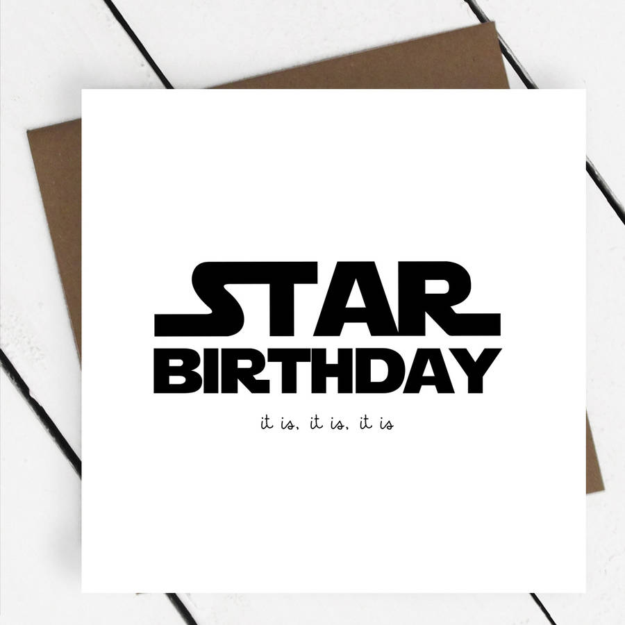 star birthday star wars greeting card by a piece of – Star Wars Birthday Card