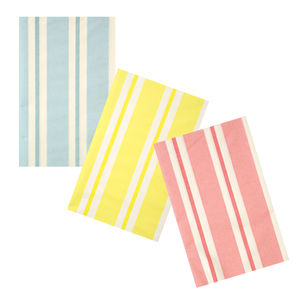 Pastel Striped Party Paper Tablecloth