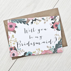 'Will You Be My Bridesmaid' Card - wedding cards & wrap