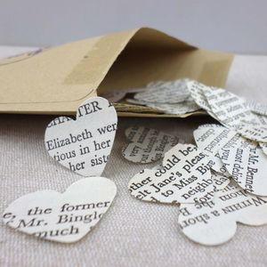 Vintage Pride And Prejudice Book Confetti Hearts