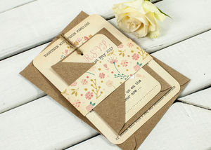 Autumn Floral Wedding Invitation Bundle - new in home