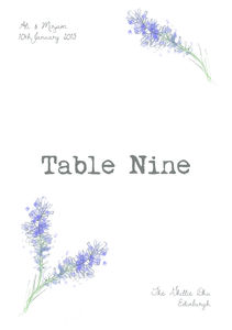 Wedding Table Name Cards - table decorations