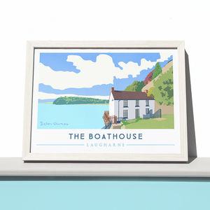 'The Boathouse' Art Print