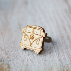 Wooden Camper Van Ring - children's jewellery