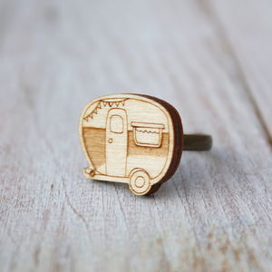 Wooden Caravan Ring - children's jewellery