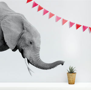 Elephant Wall Sticker - bedroom