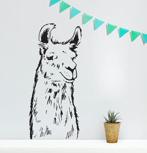 Llama Vinyl Wall Sticker - decorative accessories