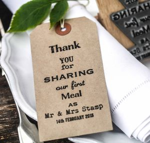 Wedding Thank You Stamp - diy stationery