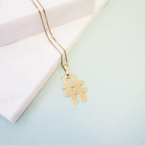 Hashtag Symbol Necklace