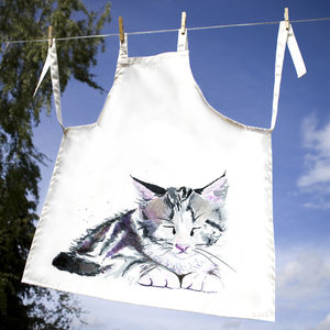Inky Kitten Apron - children's cooking
