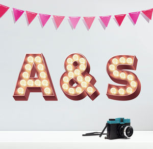 Retro Cinema Marquee Letters Wall Sticker - bedroom