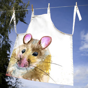 Inky Mouse Apron - children's cooking