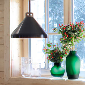 Handle Pendant Lamp, Wide, Black - ceiling lights