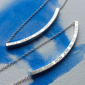 'You Make Me Smile When…' Necklace - gifts under £50 for her