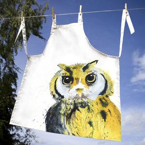 Inky Owl Apron