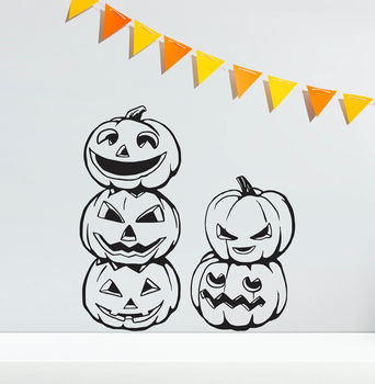Halloween Pumpkins Vinyl Wall Stickers
