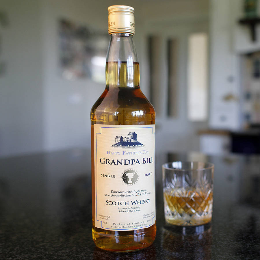 Personalised Father's Day Scotch Whisky
