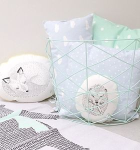 Illustrated Sleeping Hedgehog Cushion - cushions