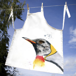 Inky Penguin Apron - children's cooking