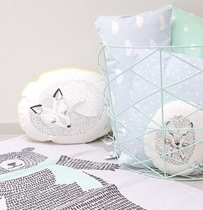 Illustrated Sleeping Fox Cushion