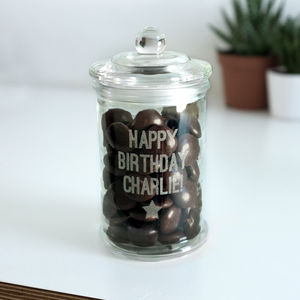Personalised Glass Sweet Jar