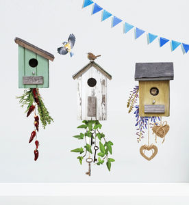 English Birdhouse Wall Sticker Set - wall stickers