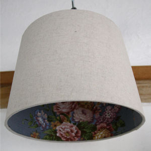 Braemar Lined Linen Lampshade - office & study