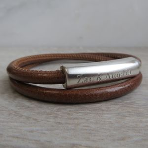 Personalised Leather Francis Bracelet - gifts for him