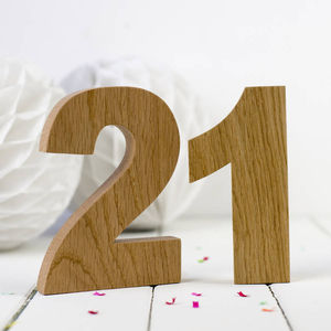 Oak Wooden Number - home accessories