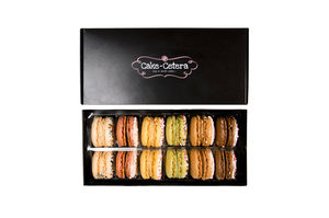 Gift Box Of 12 Assorted French Macarons - christmas food & drink