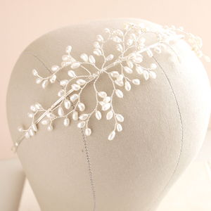 Bud Pearl Side Tiara - women's jewellery