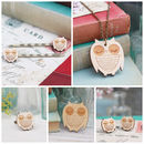 Wooden Owl Jewellery