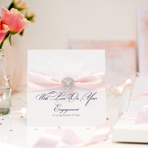 Feather Luxury Personalised Engagement Card