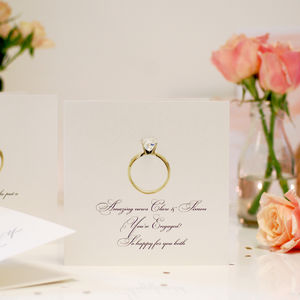 Crystal Ring Personalised Engagement Card - experience gifts
