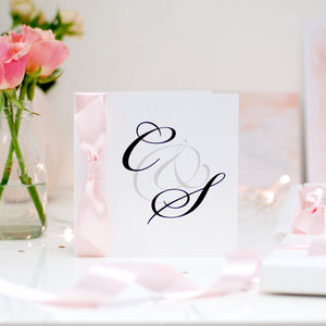 Monogram Personalised Engagement Card