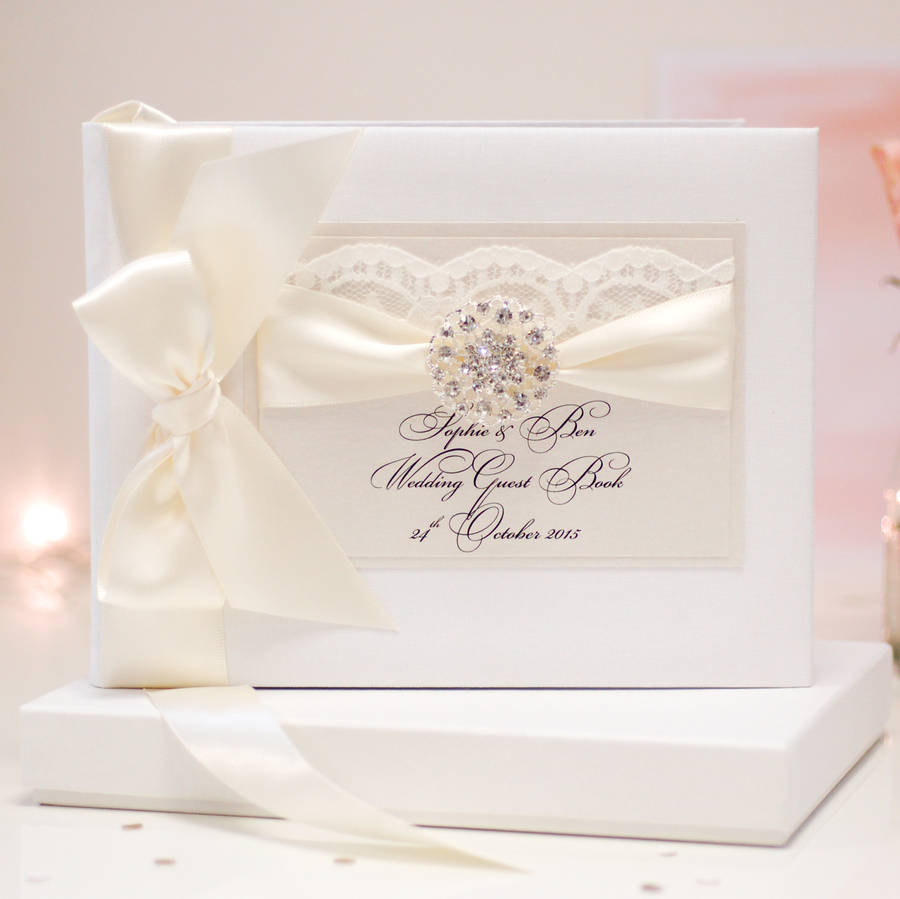 Opulence Wedding Guest Book Personalised