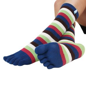 Ankle / Mid Calf Stripy Toe Socks - women's fashion