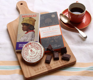 Luxury Dark Chocolate Tasting Board For Dinner Parties - chocolates & confectionery