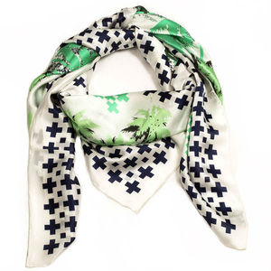 Palmtree Design Silk Scarf - stylish gadgets and accessories