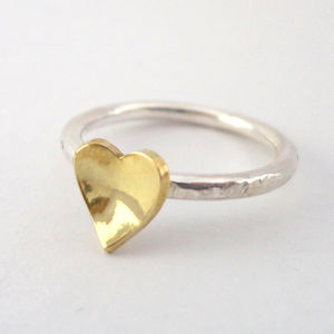 Domed Heart Ring