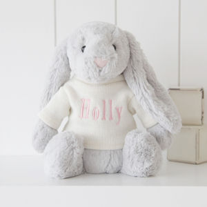 Personalised Bashful Bunny Soft Toy - gifts for babies
