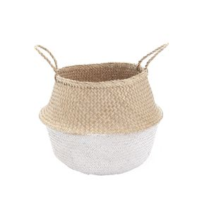 White Dipped Belly Basket - baskets