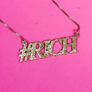 Personalised Sparkling Hashtag Necklace