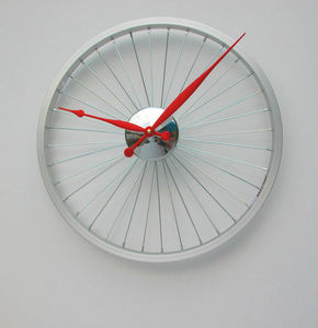 Bicycle Wheel Clock 43cm - living room
